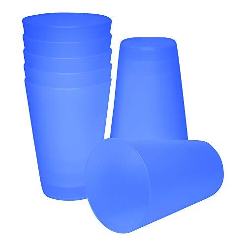 S&S-Shop 10 Plastik Trinkbecher 0,4 l - blau - Mehrwegtrinkbecher/Partybecher/Becher