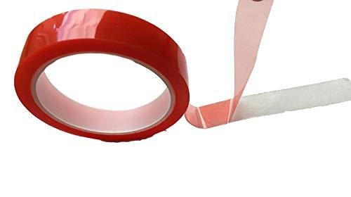 Ruban adhésif double face - Ultra puissant - Longueur : 10 m - Transparent - Utilisable en intérieur et extérieur, Atelier, Maison - Largeur : 5 mm 10 mm. 15 mm. 20 mm.