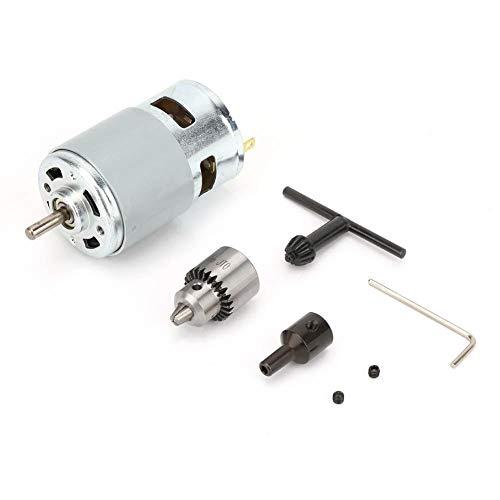 775 Motor DC 12-30V, 0.3-4MM Motor Eléctrico de Micromotor de Alta Potencia Corriente Motor Conductor con Cojinete de Bolas y Ventilador de Refrigeración para Bricolaje Partes