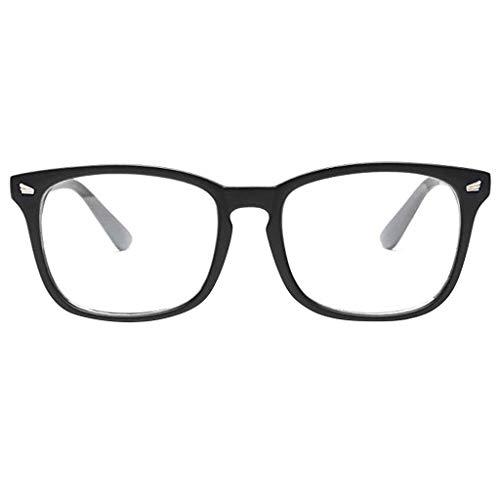 Mujeres Hombres Gafas Eyestrain UV Azul Luz Bloquear Ordenador Lectura Teléfonos Juegos Gafas Anti(C)