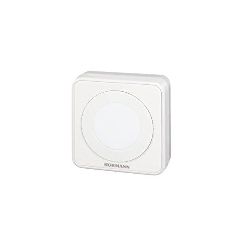 Hörmann 4511646 pulsador Interior IT1b-1 ~ convence por su diseño Exclusivo y su compatibilidad 100%, Gran botón Iluminado, Apertura cómoda de la Puerta