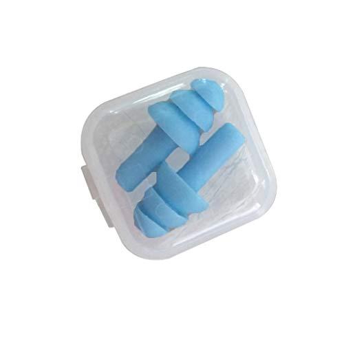 Meisijia paire d'oreille de silicone bouchons la réduction du bruit antibruit de bouchons d'oreille de ronflement pour l'étude