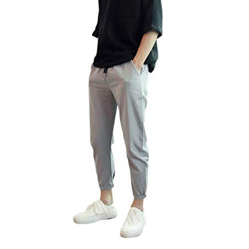 Katenyl Pantalones de Color Liso para Hombre, Cintura elástica, Moda, Todo fósforo, Informal, de Negocios, Simple, clásico, básico, Pantalones M