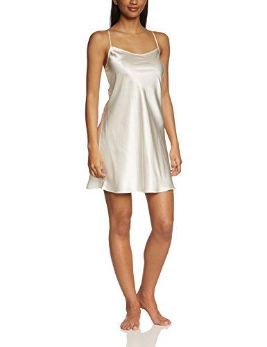 Palmers Damen Seide Silky Nights Nachthemd, Elfenbein (Pearl 224), 36 (Herstellergröße: S (36-38))