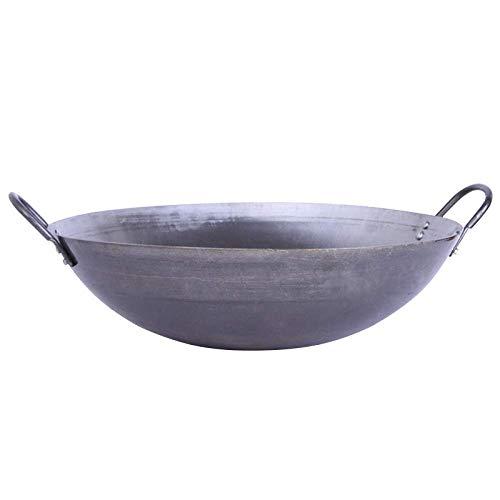 WRMIGN Sartén wok de hierro fundido hecho a mano antiadherente antiadherente hierro olla 45 cm