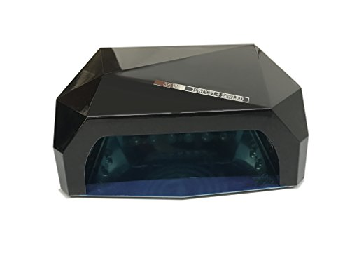 Crisnails - 36W Lámpara de Uñas Manicura CCFL CFL para Gel y Esmalte UV LED Secador Lámpara (Negro)