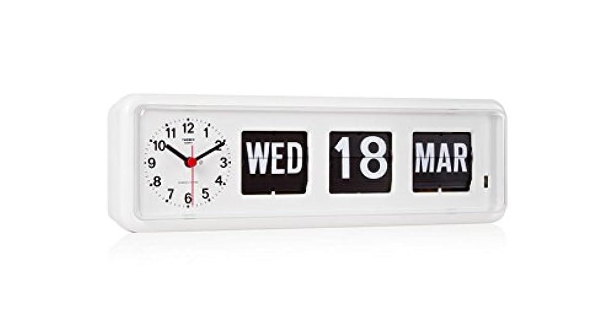 公爵キャラクター可聴TWEMCO トゥエンコ デジタルカレンダークロック パタパタ時計 置き?掛け兼用bq-38WH