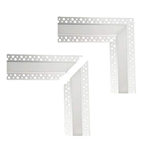 LED Aluminum Channel Corner,2Pairs L-Shape Adaptor Connector for Plaster-in Recessed Slim LED Aluminum Channel with Flange