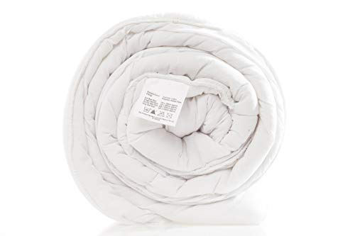 SleepyNights Duvet Quilt Single 4.5 Tog Summer Season Non Allergenic Hollowfibre - Polyester Polycotton Cover