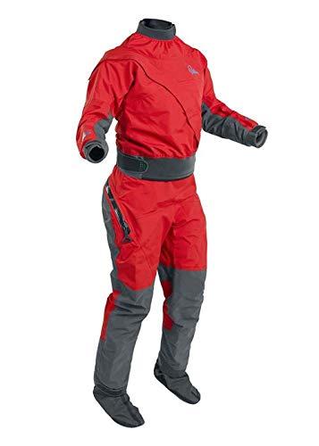 Palm Kajak oder Kajak - Frauen Cascade Frontzipp Kayak Drysuit Dry Suit + Drop Seat Flame Red - 3 Schicht - Dry