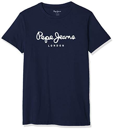 Pepe Jeans Jungen Art T-Shirt, Blau (Navy 595), 6-7 Jahre (Herstellergröße: 6)