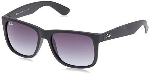 Ray-Ban RB4165 601/8G 54-16 Justin - Gafas de sol, Hombre, Negro (Rubber Black), Tamaño de la lente-puente: 54
