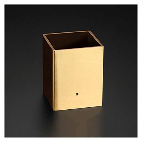 Pingping ZZPING - Juego de 4 tapas cuadradas de latón para patas de muebles de mediados de siglo, para patas de mesa, patas de mesa, fundas de repuesto para sofá (color: 45 x 45 x 30 mm)