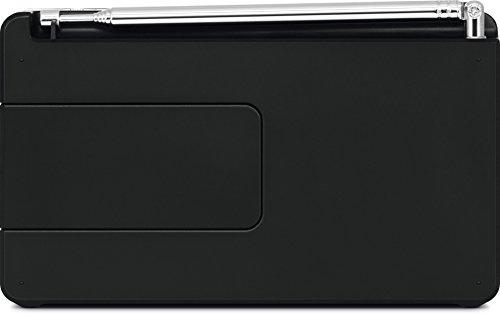 TechniSat DIGITRADIO 1 - tragbares DAB+ Radio mit Akku (DAB, UKW, Lautsprecher, Kopfhöreranschluss, Favoritenspeicher, OLED Display, klein, 1 Watt RMS) schwarz/silber