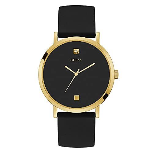Guess Watches Reloj negro de acero inoxidable para hombre vestido W1264G1