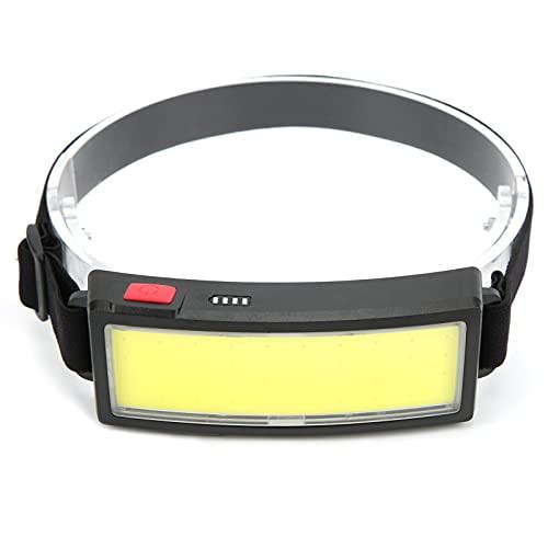 01 Linterna Frontal para Camping, Diadema elásticamente Estirable Linterna Frontal Recargable Carga USB Ultraligera Impermeable para Correr de Noche para Caminar para Acampar