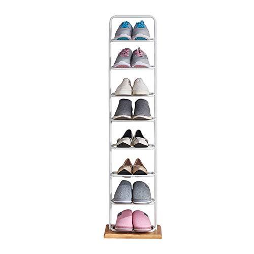 BOYH Zapatero Independiente De Entrada Multiuso Estantería para Zapatos con 8 Niveles Estantes Ajustable Soporte Organizador De Almacenamiento,Negro