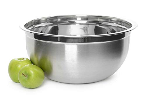 Deep Professional Quality Stainless Steel Mixing Bowl For Serving, Cooking, and so forth.-Mixing bowls-Mixing bowls with lids set-Stainless metal mixing bowls-Bowls for kitchen-Mixing bowl-Mixing bowl set