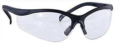 Caldwell Adjustable Pro Range Glasses with Clear Lenses and Black Frame for Outdoor, Range, Shooting, Competition and Hunting
