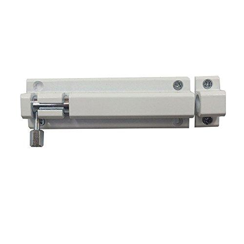 Codkey - Perno para puerta (resistente, aleación de aluminio, resistente a la intemperie, movimiento suave y silencioso, montaje en interiores y exteriores, 80 mm), color blanco
