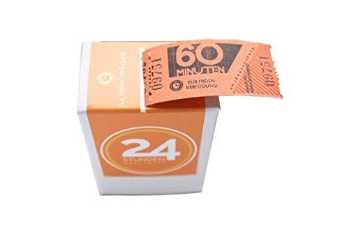Zeitgeschenk: 24 x 60 Minuten Zeit-Wertmarken zum Abreißen