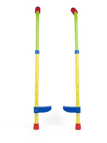 Small Foot 10866 Kinderstelzen mit sicheren Fußstützen aus stabilem Material, höhenverstellbar bis ca. 90cm, gepolsterte Handgriffe, schult den Gleichgewichtssinn, geeignet für Kinder ab 5 Jahren