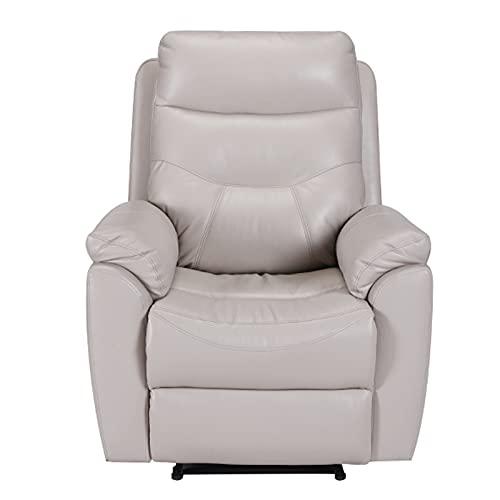 Piccola sedia da massaggio, Lazy Chair, Nano Pelle/Panno tecnico, 110-160 gradi di regolazione, adatto per sala studio, balcone, soggiorno, 55x90x107cm