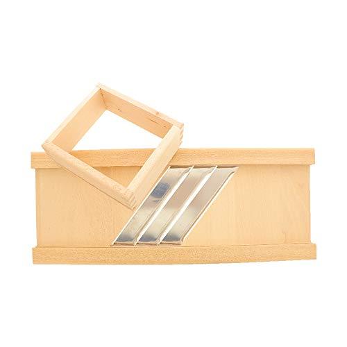 HOFMEISTER® Profi-Krauthobel mit Edelstahl-Klingen, 60 cm, sicheres Schneiden von Weißkraut & Rotkraut Dank beweglichem Schlitten, Gemüsehobel aus Buchen-Holz, Made in EU