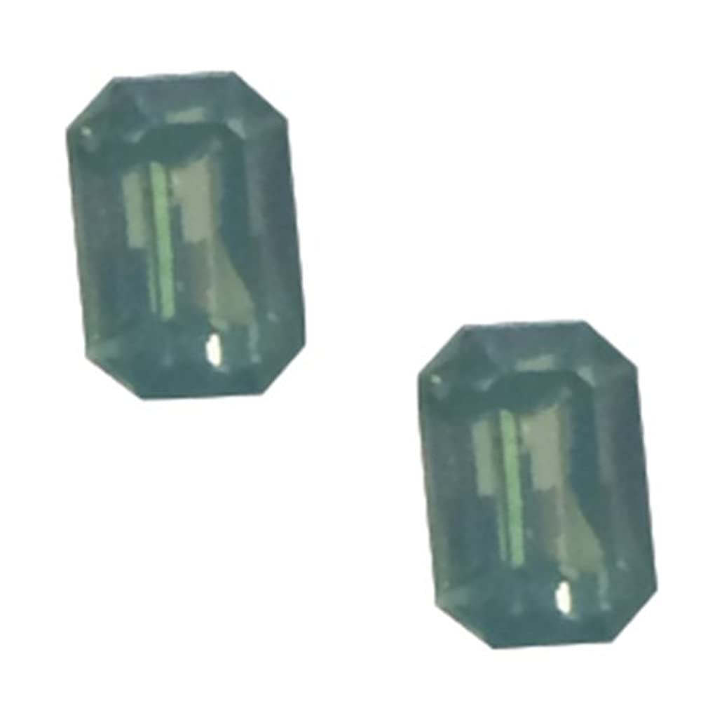 のホスト塊キノコPOSH ART ネイルパーツ長方形型 4*6mm 10P グリーンオパール