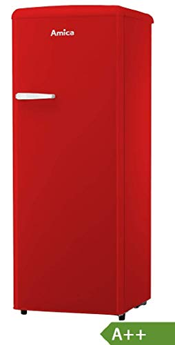 Amica Retro Kühlschrank Rot A++ 241L VKSR 354 150 B Vollraumkühlschrank LED Innenbeleuchtung
