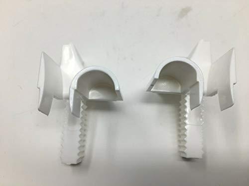 1 Paar Rolladen Einlauftrichter Vorbaurollladen Trichter Schiene 53mm x 22mm
