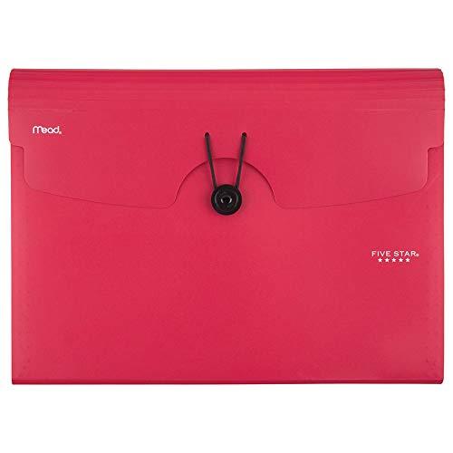 Five Star Expanding File Folder, 13-Pocket Expandable File Folder, Red (38145)