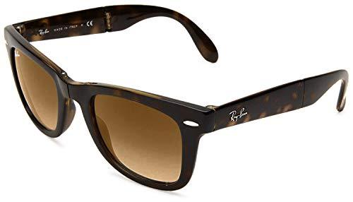 Ray-Ban RB4105Wayfarer Sonnenbrille, faltbar, nicht polarisiert, 50mm Gr. 50 mm, Tortoise Brown Classic B-15
