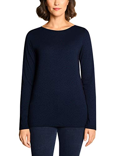 Cecil Damen 314011 Langarmshirt, Mehrfarbig (deep Blue 20128), XX-Large (Herstellergröße:XXL)