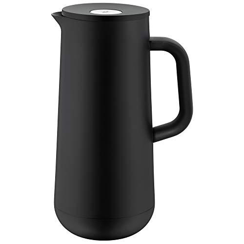 WMF Impulse Thermoskanne 1l, Isolierkanne für Kaffee oder Tee, Druckverschluss, hält Getränke 24h kalt & warm, schwarz