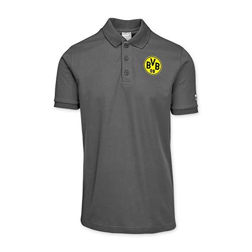 Puma Work Wear Herren Borussia Dortmund Polo - Arbeitsshirt mit Vereinslogo vom BVB - Anthrazit - Gr. S