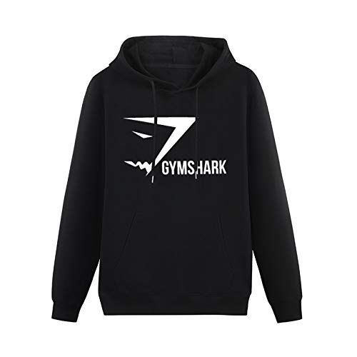 SHUBIAO Mens Hooded Gymshark LogoHoodies Pullover Sweatshirts Black XL