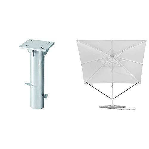 Schneider Universal-Bodenplatte & Schneider Windsicherung für Ampelschirme
