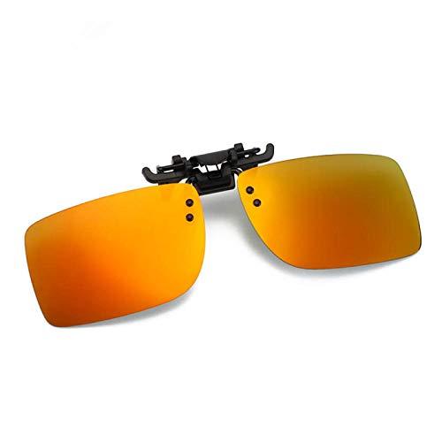 NJJX Gafas De Conductor De Coche Gafas De Sol Polarizadas Anti-Uva Gafas De Sol De Conducción Con Clip De Lente De Visión Nocturna Accesorios Interiores H