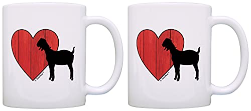 Barnyard Farm Animal Goat Love Heart Barn Yard Billy Goat - Taza de té
