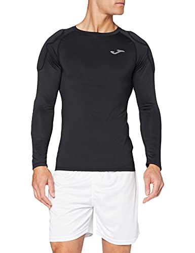 Joma Camiseta Protec Portero Negro M/L Camiseta de Entrenamiento Hombre