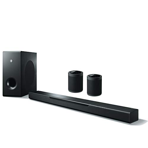 Yamaha Wireless Multiroom Sound System mit MusicCast BAR 400 Sound Bar + 2 x MusicCast 20 Soundbox schwarz (kompatibel mit Amazon Alexa)