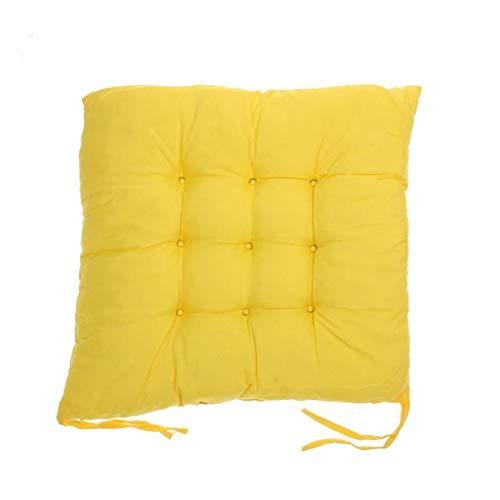 DALIU Cojín de Asiento de algodón Suave Cojín de Silla de Invierno Decoración para el hogar Cojines de Piso, Amarillo Dorado