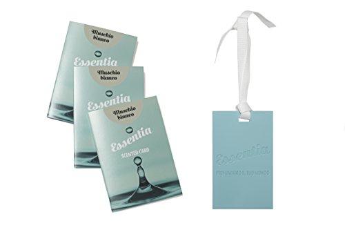CARDS PROFUMATE AL SILICONE- SET 3 CARDS FRAGRANZA MUSCHIO BIANCO, IDEALI PER PROFUMARE CASSETTI,ARMADI,BORSE,AUTO....