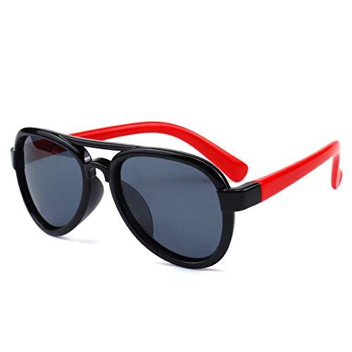 Gosunfly Gafas de sol polarizadas Gafas de sol voladoras de moda Multicolor al aire libre Sombra de sol Espejo-C12-marco negro pies rojos