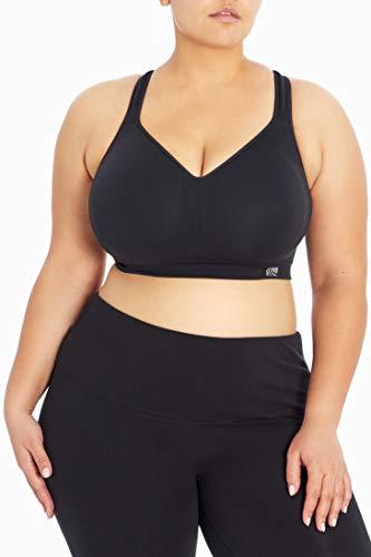 Marika Plus Size Adjustable Seamless Sports Bra, Black, 2X