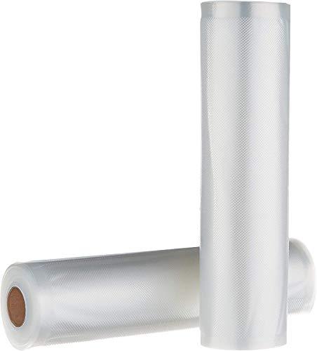 Amazon Basics - 2 rollos para sellar al vacío, 22 cm x 500 cm