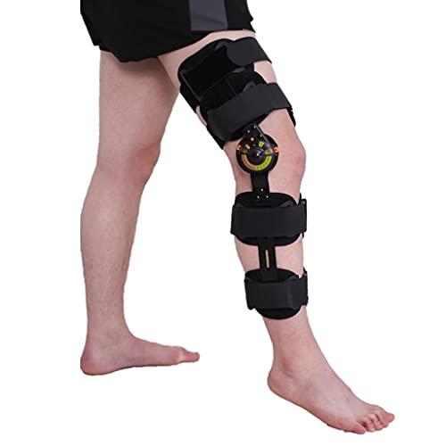 ZAYZ Rodillera para Mujeres Hombres, Lesión de Rótula Post OP Soporte Inmovilizador, Estabilización de Pierna Completa Ajustable Guardia Ortopédica para LCA, Ligamentos, Lesiones Deportivas