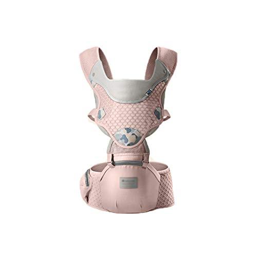WYNZYYEBD Porte-bébé, Multi-fonctionnel Respirant Taille Ceinture Tabouret Four Seasons Porte-bébé Universel, Convient Pour 0-36 Mois Bébé (Couleur : Rose)