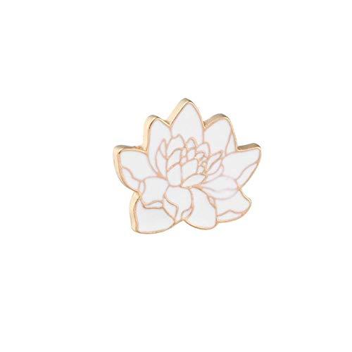 Glamourous Golden Pattern Lotus Badge Brooch Flower Plant Enamel Pins Bag Shirt Lapel Collar Pin Fashion Jewelry Women Men Gifts-Flower,China